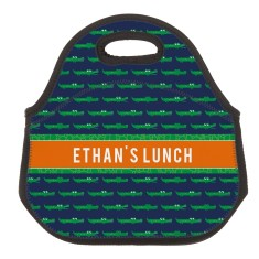 Personalised Neoprene Lunch Bag - Croc