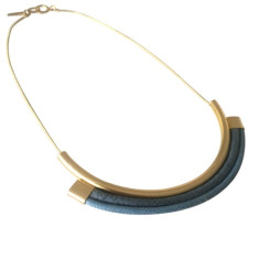 Poseidon blue short necklace