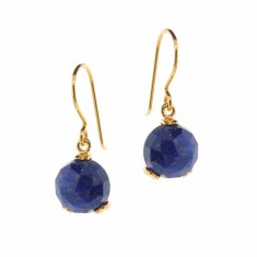 Lapis Small Era drop earrings (Silver, Rose or Yellow Gold)