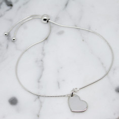 Little heart sterling silver slider bracelet