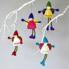 Christmas felt fairies (set of 6)