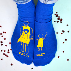 Personalised Super Hero Socks