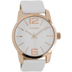 Large face rose gold watch (white, black, pink or sand)
