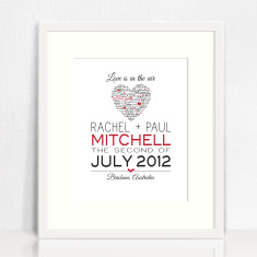 Keepsake love prints (various designs)