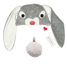 Lil' grey bunny hat & tail set for kids