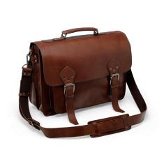 Leather Press Lock Briefcase