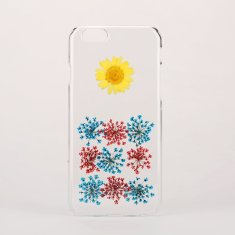 Pressed real flower clear phone case for iPhone & Samsung