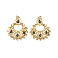Lotus inspired gold statement boho earrings