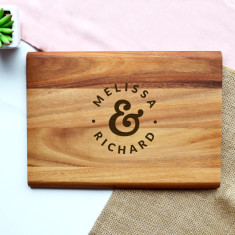 Personalised Mr and Mrs Dots Chopping Board