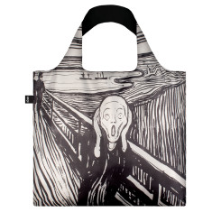 LOQI reusable bag in museum collection in the scream