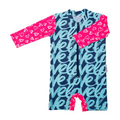 Baby sunsuit for girls in Love Love Desire