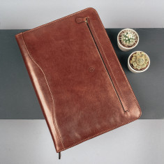 The Veroli A4 Leather Ring Binder Folder