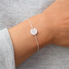 Personalised Initial Disc Bracelet