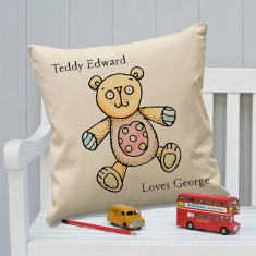 Personalised Colour In Your Toy Illustrated Cushion