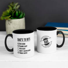 Personalised Dad's To Do's Write On Mug