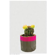 Geometric cactus 2 art print