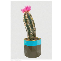 Geometric cactus 3 art print