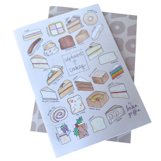 Cake alphabet notebook set