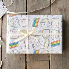 Cake wrapping paper set