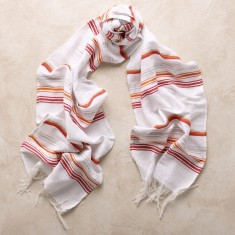 Cala rossa scarf in red