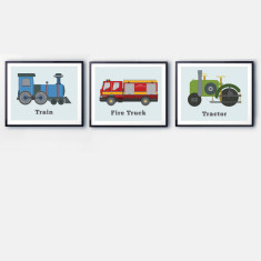 Transport prints (set of 3)