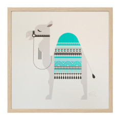 Sleepy giants camel screen print