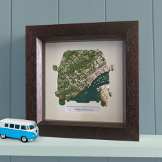 Personalised camper van map print (choose your location)