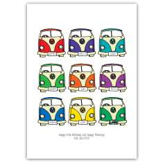 Personalised retro camper van art print