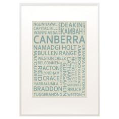 Canberra text print
