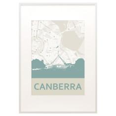 Canberra skyline print