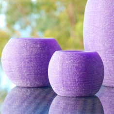 Impressive candle caves set in lavender (set of 3)