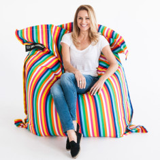 Candy stripe bean bag cover