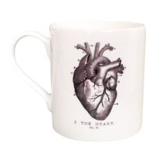 Vintage Heart Bone China Cup