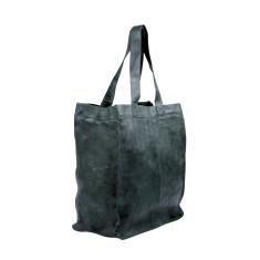 Capri leather shopper in licorice