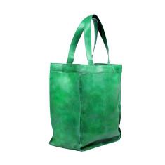Capri leather shopper in mint