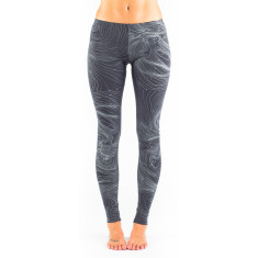 Merino aerial maps leggings