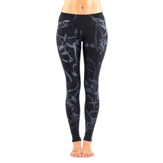 Merino bushwalking leggings in black/grey