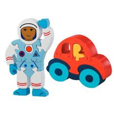 Astronaut and car jigsaw pack