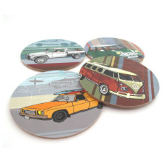 Vehicle coasters (set of 4)