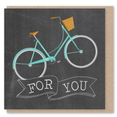 Chalkboard bicycle mini card (3 pack)