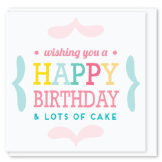 Lots of cake mini card (3 pack)