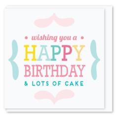 Lots of cake mini card (3 pack)