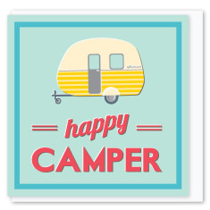 Happy camper mini card (3 pack)
