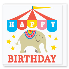 Circus elephant mini card (3 pack)