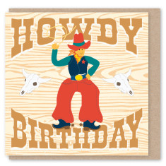 Cowboy mini card (3 pack)