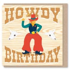 Cowboy mini card (3 pack)