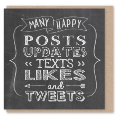 Chalkboard tweets mini card (3 pack)