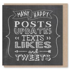 Chalkboard tweets mini card (3 pack)