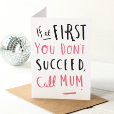 Call Mum Mother's Day card