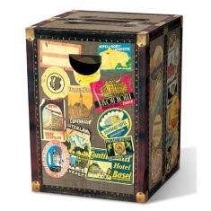Cardboard globetrotter stool